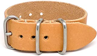 product image for DaLuca 1 Piece Military Watch Strap - Natural Essex (Matte Buckle) : 26mm