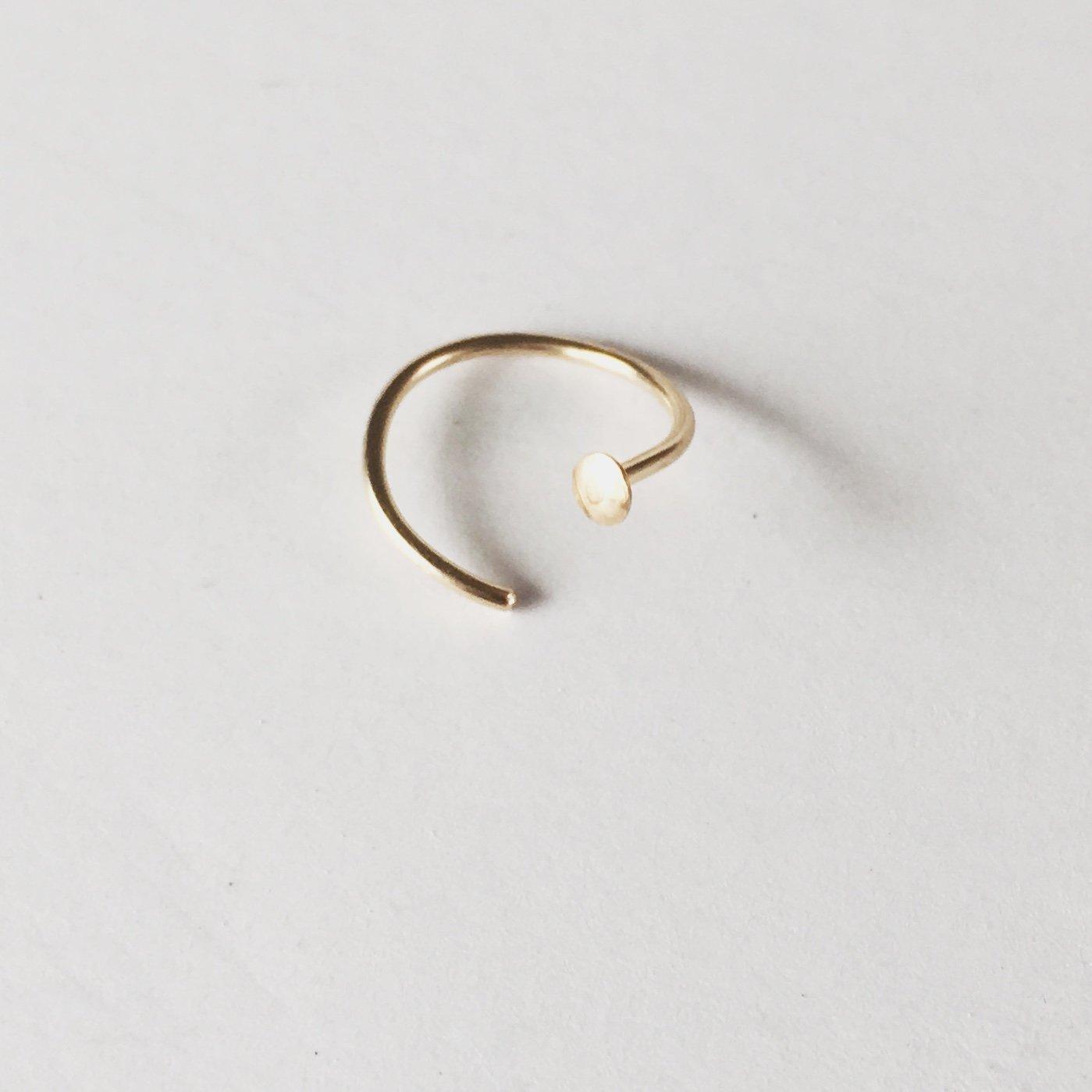 14k Gold Filled Adjustable Metal Hoop Nose ring - 20 Gauge 5mm-6mm