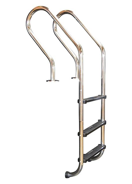 Acero inoxidable Piscina Escalera con curvado Holm Socket de ...