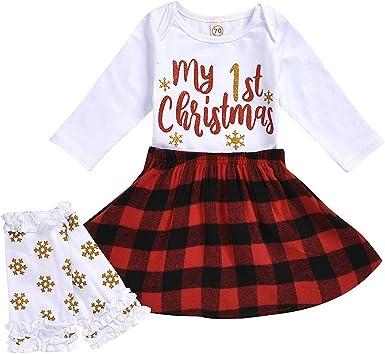 FELZ Conjunto Bebe niña Navidad, Mameluco navideño Infantil para ...