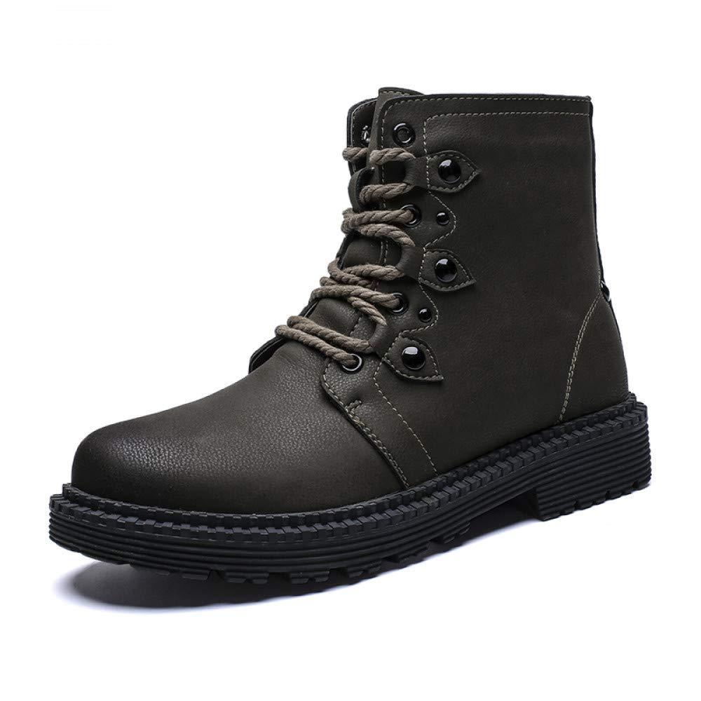 FHCGMX Winter Männer Stiefel Vintage Style Männer Schuhe Lässige Mode Mode Mode Lace-up Warme Stiefeletten Hohe Spitzenschuhe Männer Desert Stiefel Plus Größe B07MR7Q1HC  0b5464