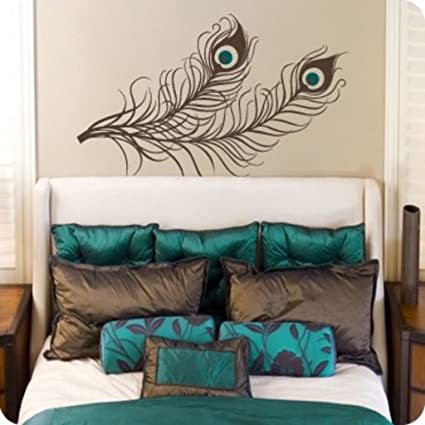 f8774f84b9b Buy Decals Design  Lucky Peacock Feathers  Wall Sticker (PVC Vinyl ...