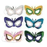 Butterfly Sequin Masks (1 dz) by Fun Express