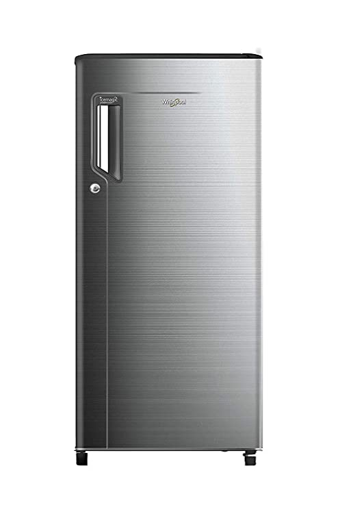 Whirlpool 185 L 3 Star Direct Cool Single Door Refrigerator  200 ICE MAGIC POWER COOL PRM 3S CHROMIUM STEEL E, Chromium Steel  Refrigerators