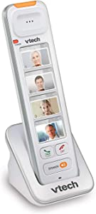 VTech SN5307 Amplified Photo DIAL Accessory Handset with Big Buttons & Large Display for SN5127 & SN5147 Senior Phone Systems, Photo Dial Handset, Cordless Phone System