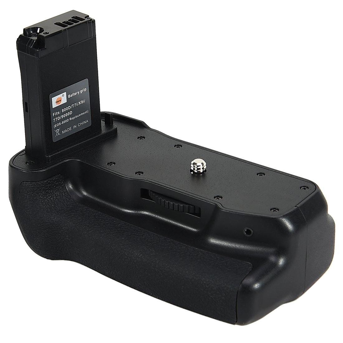 2 Bater/ías LP-E17 y Cargador USB DSTE EOS-800D Empu/ñadura de Bater/ía Compatible con Canon EOS 800D T7i X9i 77D 9000D