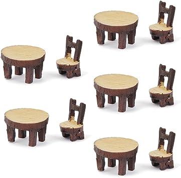 5 Juegos De Mesa De La Silla De Resina Miniatura Micro Bonsai Paisaje Decoración Casa De Muñecas: Amazon.es: Bricolaje y herramientas