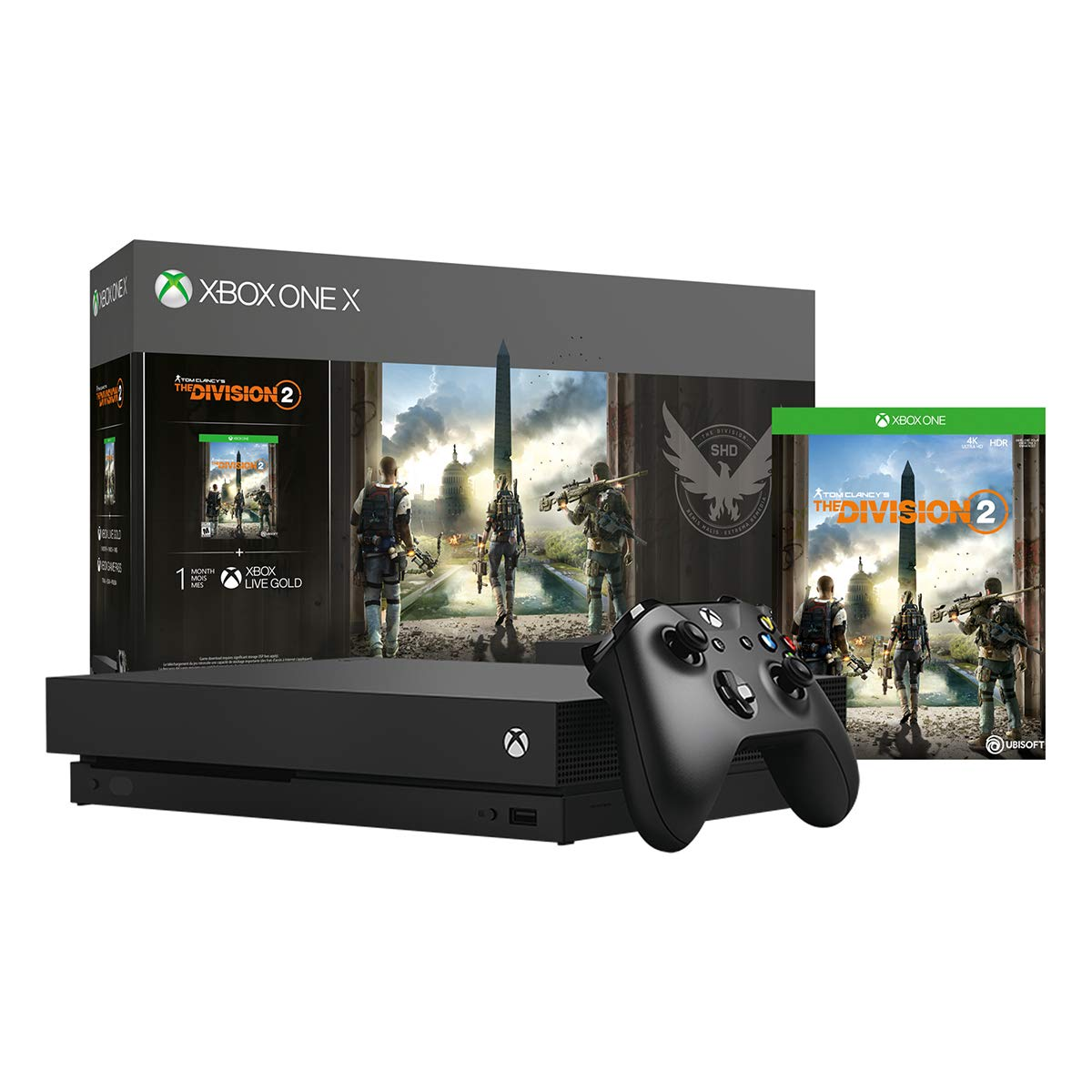 Xbox One X 1TB Console - Tom Clancy's The Division 2 Bundle