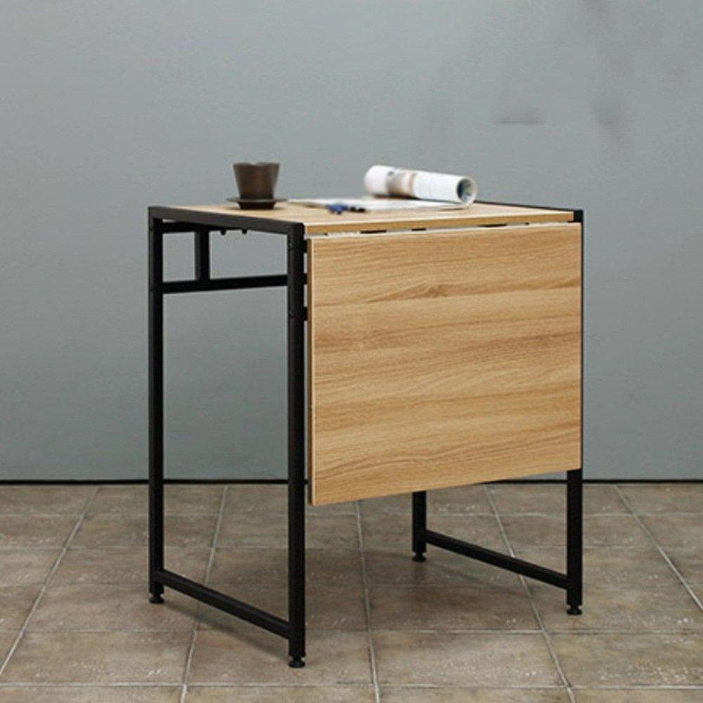 XIAOLIN ダブルダイニングテーブル折りたたみテーブル現代ミニマルリトラクタブルテーブルスチールウッド小さなアパートダイニングテーブル省スペースシンプルデスク小型ワークベンチミニ小型テーブルシンプルデスク小型ワークベンチ折りたたみテーブル (色 : ブラック) B07D561MCMブラック