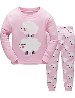 97cd78e50 Little Hand Christmas Pyjamas Girls Kids Pink Pjs Giraffe Sleepwear ...