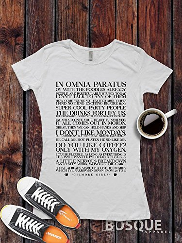 Gilmore Girls inspired T-Shirt / Adult T-shirt Top Tee Shirt design Famous Quotes Shirt - Ink Printed by Modern Vector