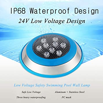 Amazon.com: Led Pool Lightsm,LED Underwater Swimming Pool Lights,Led ...