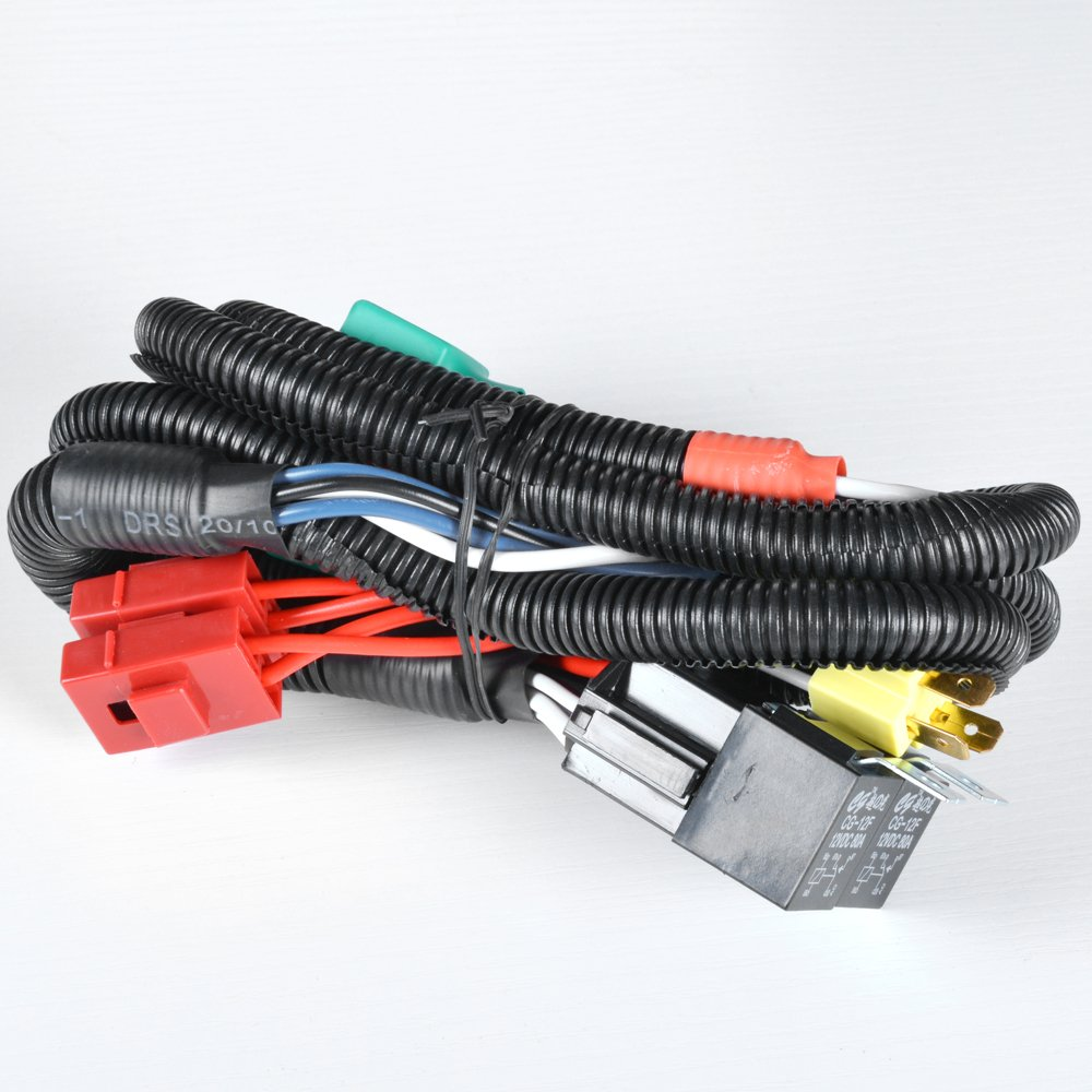 61 kYhr1vBL._SL1000_ amazon com high & low wiring kits headlight parts & accessories Wire Harness Assembly at virtualis.co