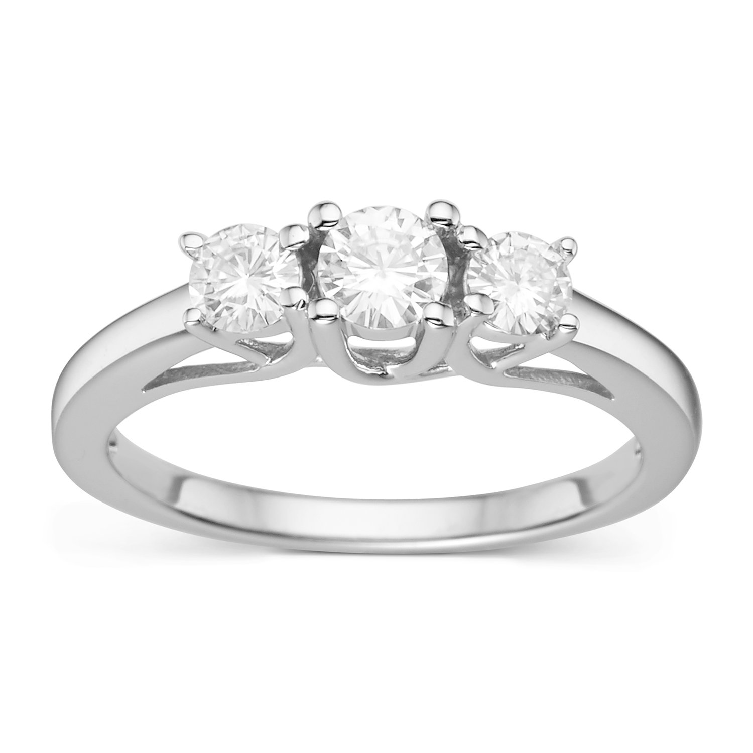 Forever Classic Round Cut 6.0mm Moissanite Engagement Ring-size 5, 1.46cttw DEW By Charles & Colvard