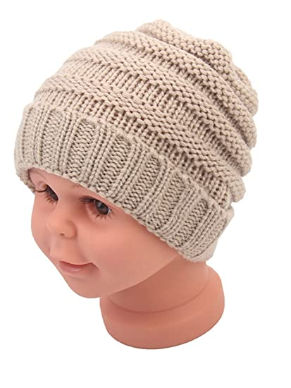 07fa0a0a51db Amazon.com  Beanie Skull Slouchy Caps Unisex Baby Boy Girls Warm ...