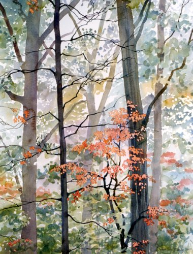 the-little-woods-giclee-print-of-colorful-autumn-trees-in-the-forest-10-x-13-inches
