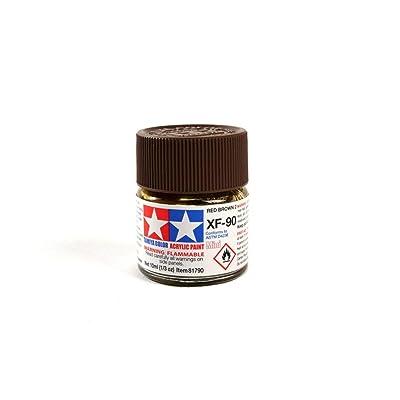 Tamiya America, Inc Acrylic Mini XF-90 Red Brown 10ml Bottle (2), TAM81790: Toys & Games