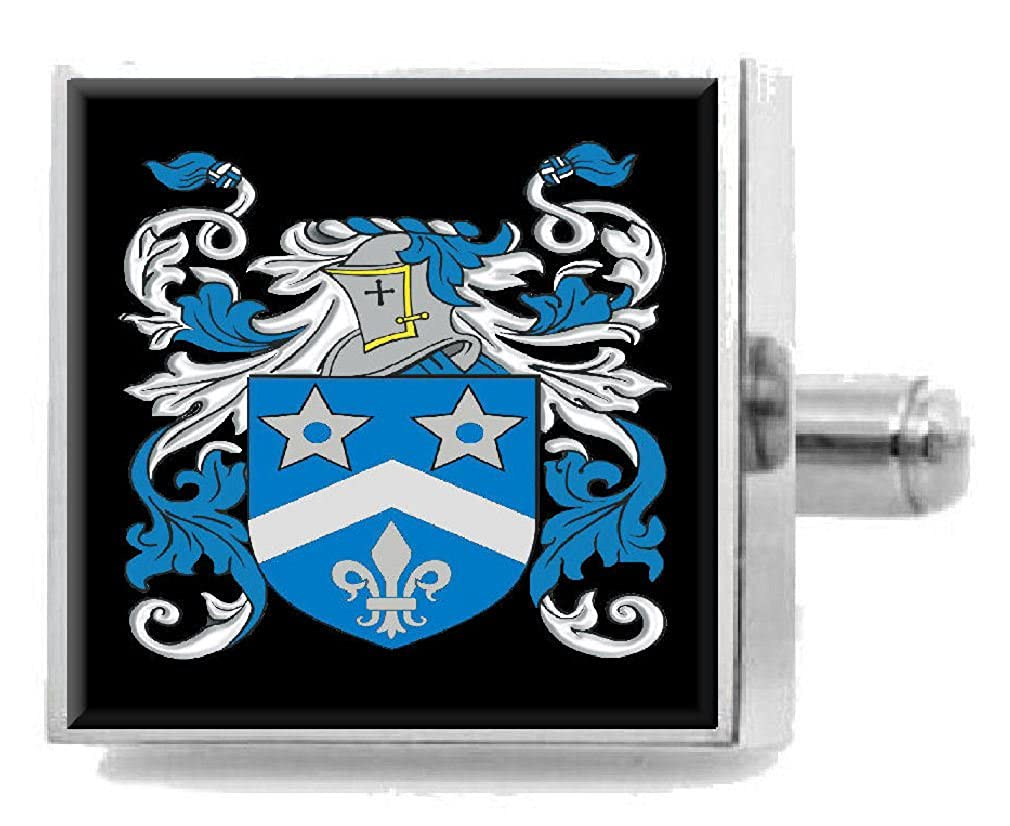 Select Gifts Wylock England Heraldry Crest Sterling Silver Cufflinks Engraved Message Box