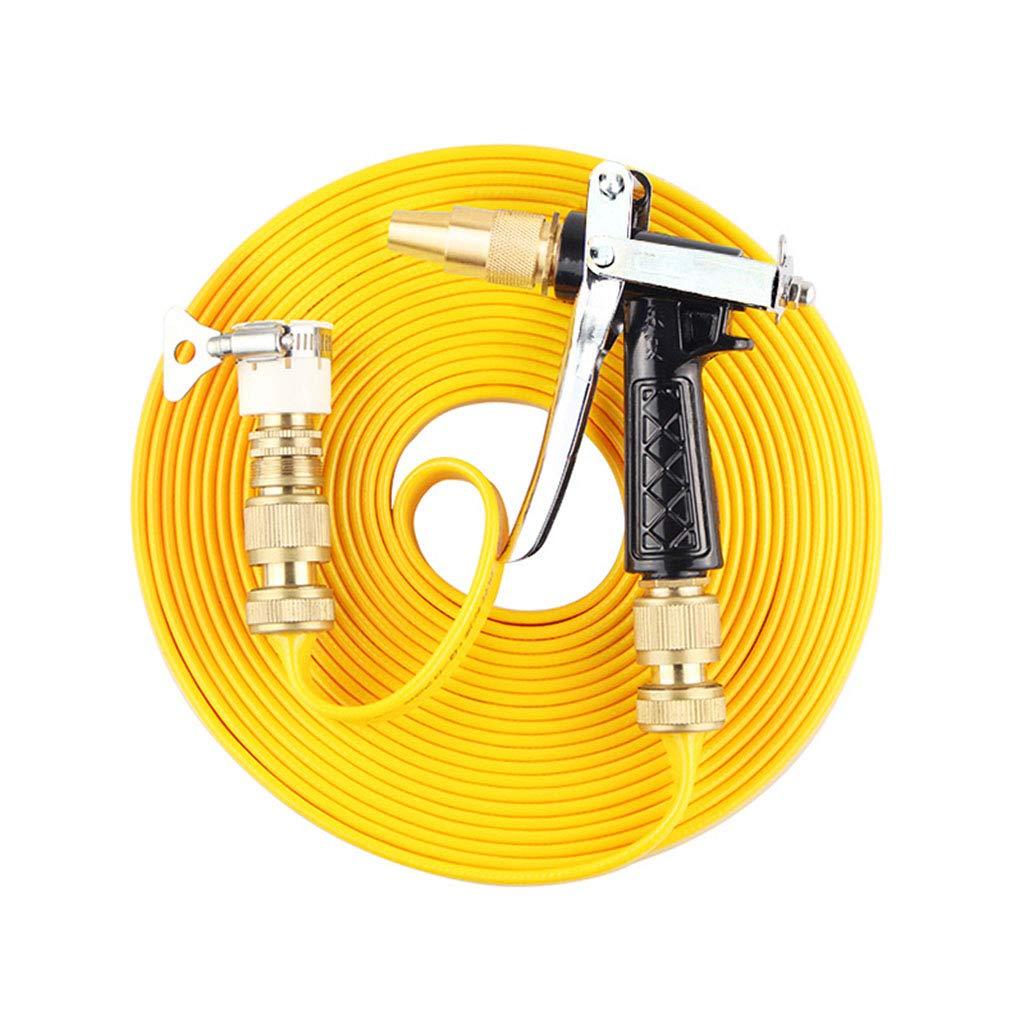 fantastica qualità Tubo antigelo per acqua in metallo metallo metallo Pistola ad acqua in metallo con raccordi in ottone massiccio per lavaggio auto   irrigazione fiori   verdure   Finestre di pulizia   pavimento (nero + giallo)  l'intera rete più bassa