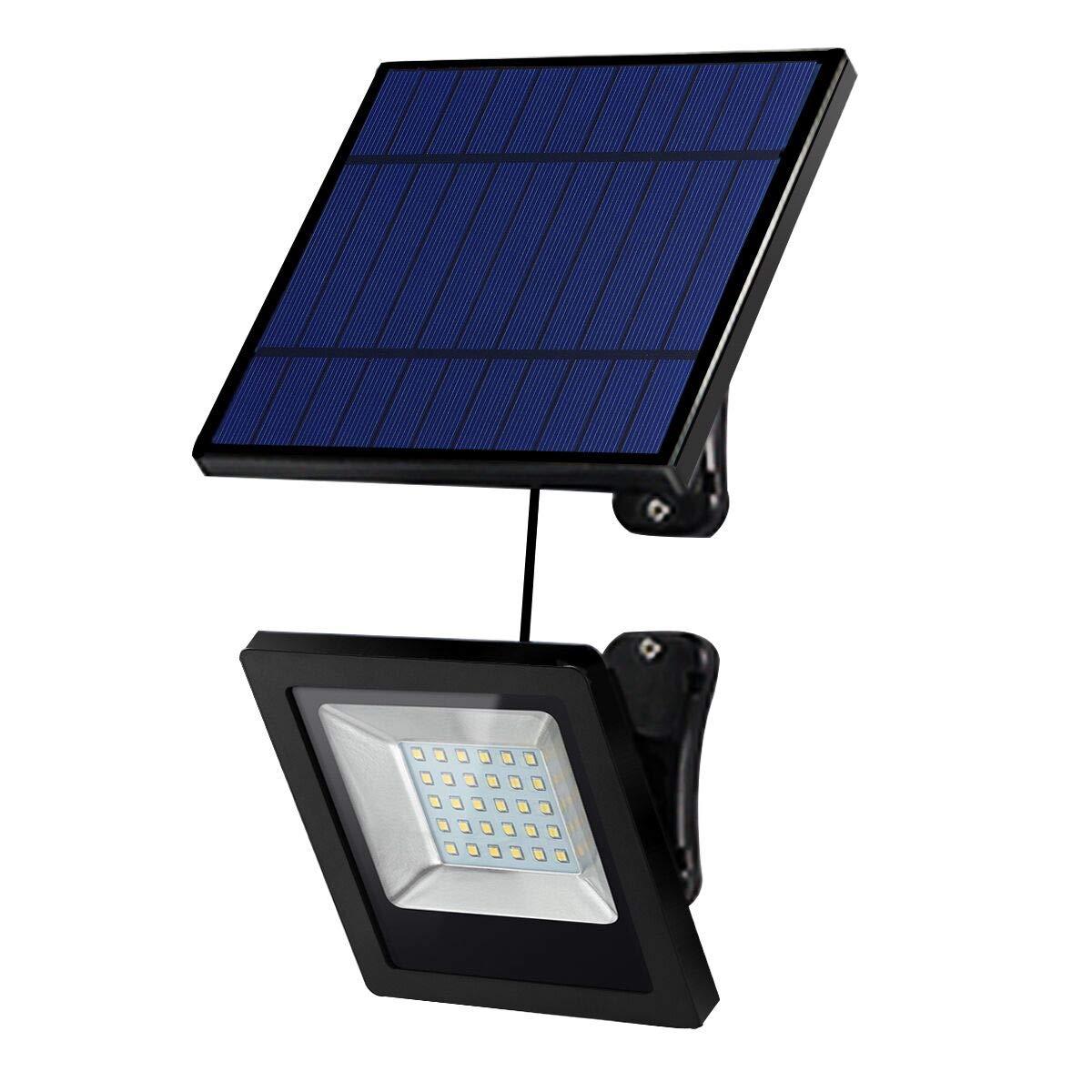 Solar Lights Outdoor, Hikeren IP65 Waterproof Solar Lights(White Light), 30 LED Spotlight, Easy-to-Install Security Lights for Front Door, Yard, Garage, Deck