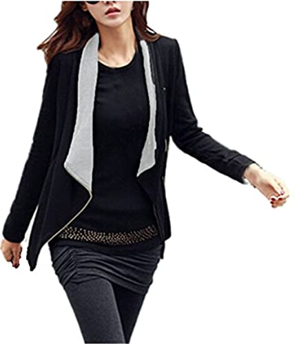 YOGLY Mujer Casual Manga Larga Cardigan Top Coat Blazer Jacket Outwear Traje de Chaqueta