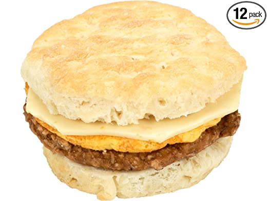 Jimmy Dean Blazin Hot Sausage Egg and Cheese Pepperjack Biscuit Sandwich, 5 Ounce -- 12 per case