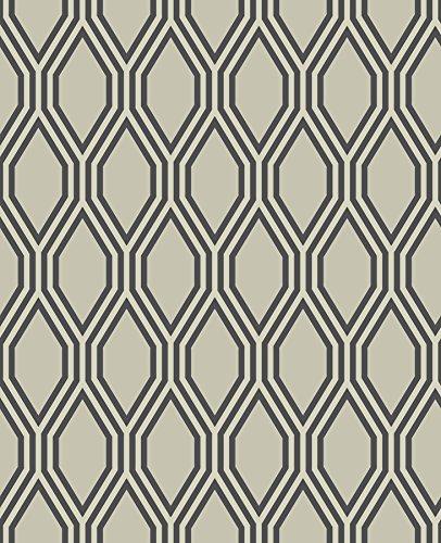 A-Street Prints 2782-24500 Honeycomb Geometric Wallpaper Beige ()