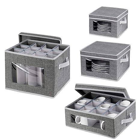 Amazon.com: Caja de almacenamiento para tazas de china ...