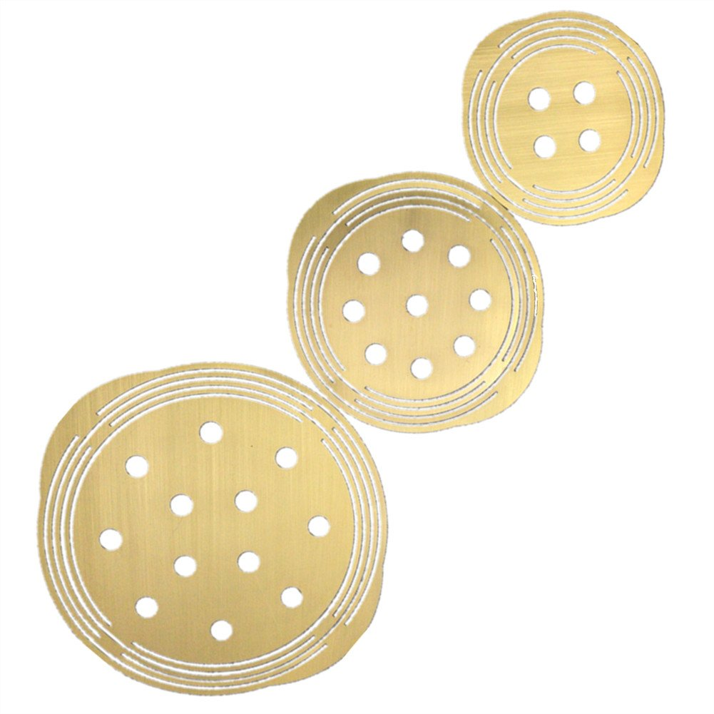Fule Brass Flower Arranger Grid, Flower Frog Stem Holder Floral Supplies for Arrangement - 3 Pack