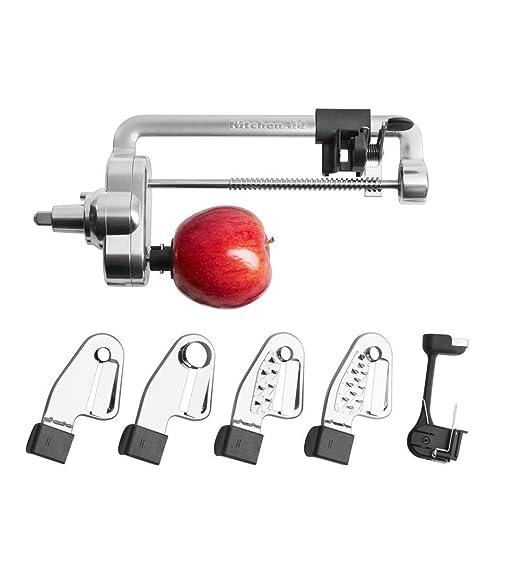 KitchenAid Espiralizador cortador pelador accesorio 5KSM1APC. Original. Valido para Todos los modelos de Robots de Cocina Garantía Española: Amazon.es: ...