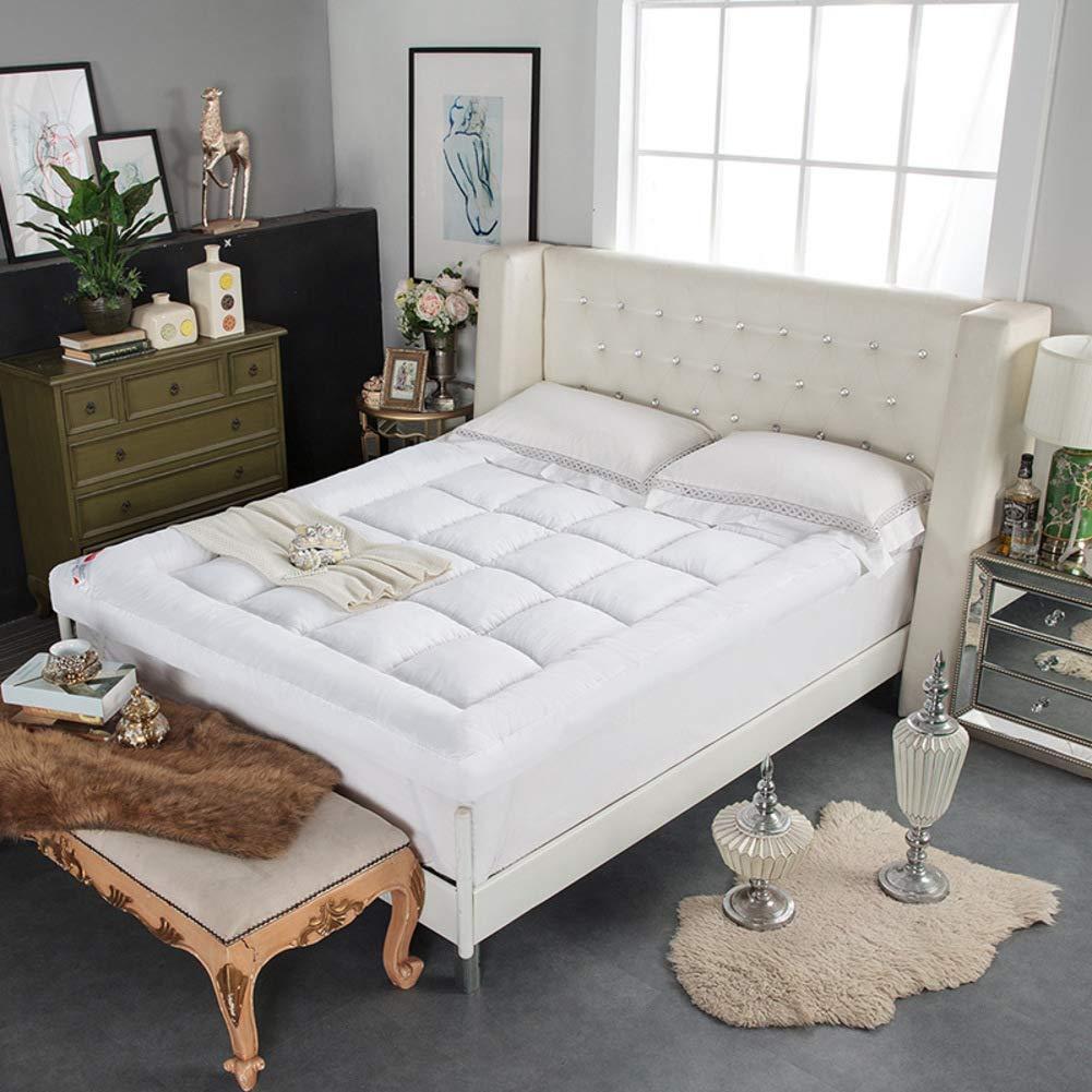 E 120x200cm(47x79inch) Feather Velvet Filling Sleeping Futon Tatami Mattress, Thicken Floor mat Pad Foldable Cushion mats Quilted Non-Slip Mattress Topper-G 120x200cm(47x79inch)