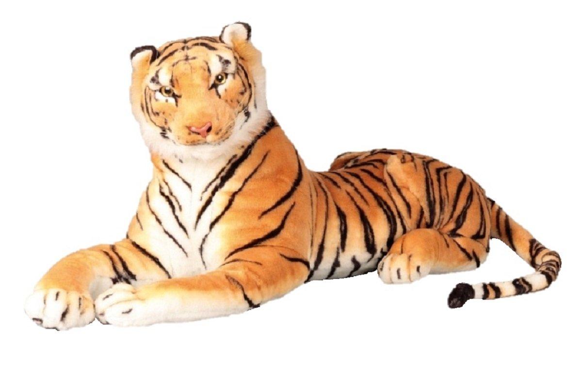 1 Alla Giocattolo Brown cm Tiger coccolone Xxl 110 alto fine 70m Peluche Qtdrsh