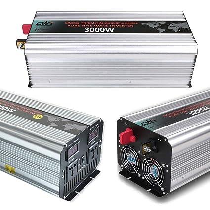 3000W Power Inverter 12V DC to 220V 230V AC Converter Pure