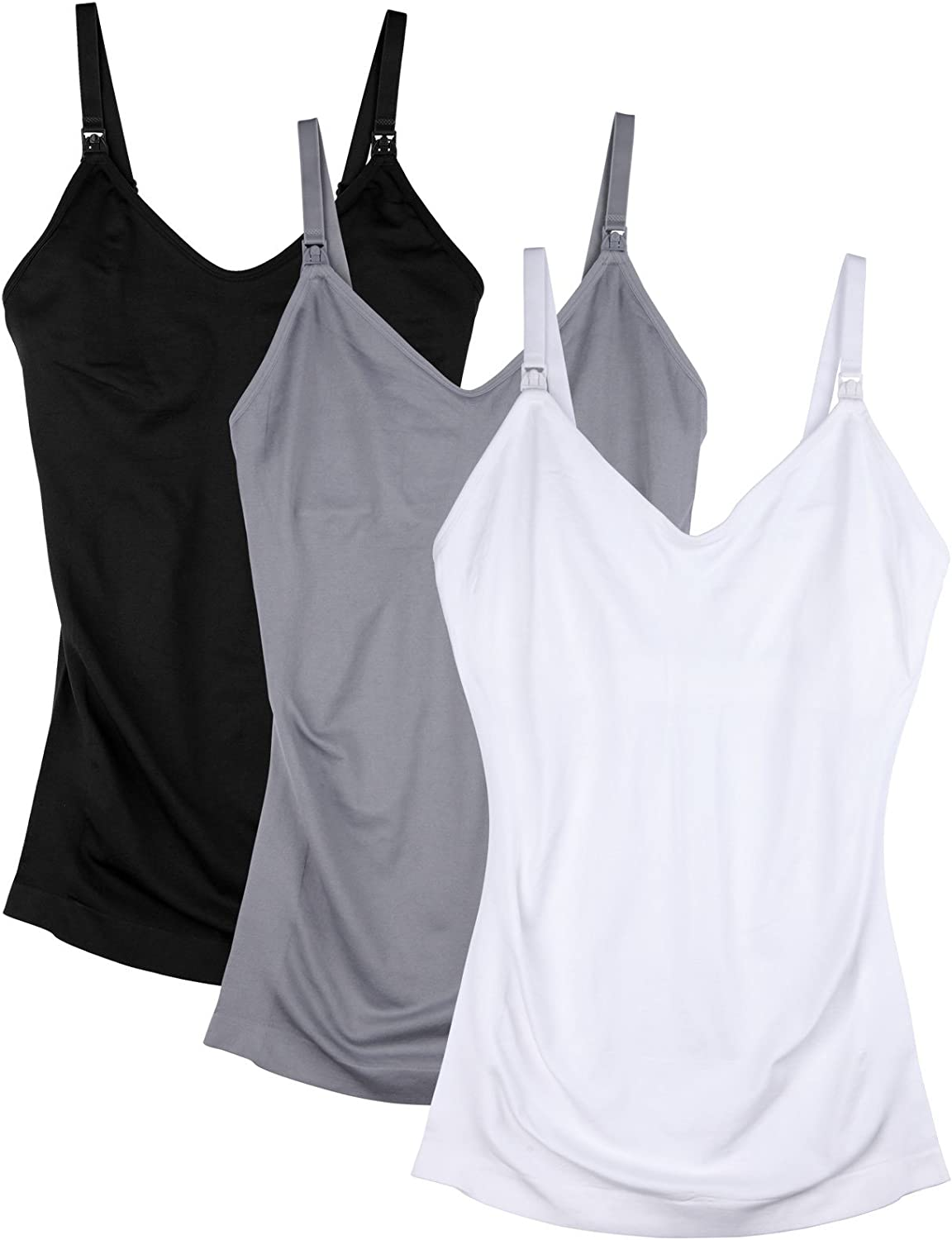 Womens Maternity Nursing Tank Cami for Breastfeeding with Adjustable Straps at  Women's Clothing store