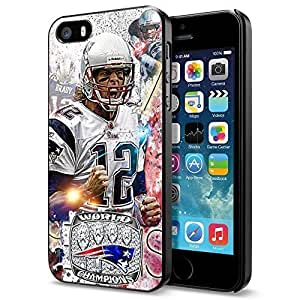 fashion case NFL New England Patriots Tom Brady , Cool iphone 6 4.7 f1V3NDxho4b Smartphone case cover Collector iphone 6 4.7 Black