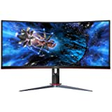"AOC CU34G2X 34"" Curved Frameless Immersive Gaming Monitor, UltraWide QHD 3440x1440, VA Panel, 1ms 144Hz Adaptive-Sync, Height"