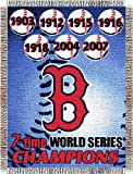 MLB Boston Red Sox Commemorative Acrylic Tapestry Throw Blanket