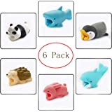 Cable Bites Cute Animals Chompers Prime Protector Cord Saver Accessories for iPhone 7 XS 8 Android (6 Pack)