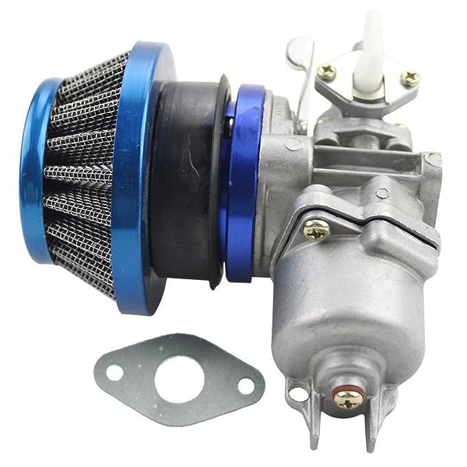 GOOFIT Azul Carburador 13 Minimoto Chino con 44mm Filtro de Aire del Combustible para Desbrozadora 2 Tiempos 43cc 47cc 49cc Scooter Pit Bike ATV Mini ...