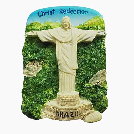 MUYU Magnet Imán para Nevera con Diseño de Cristo Redentor 3D de ...