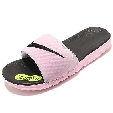 Nike Women s Benassi Solarsoft Slide Sandal Arctic Pink Black 10 ... 6f2b6b4db499