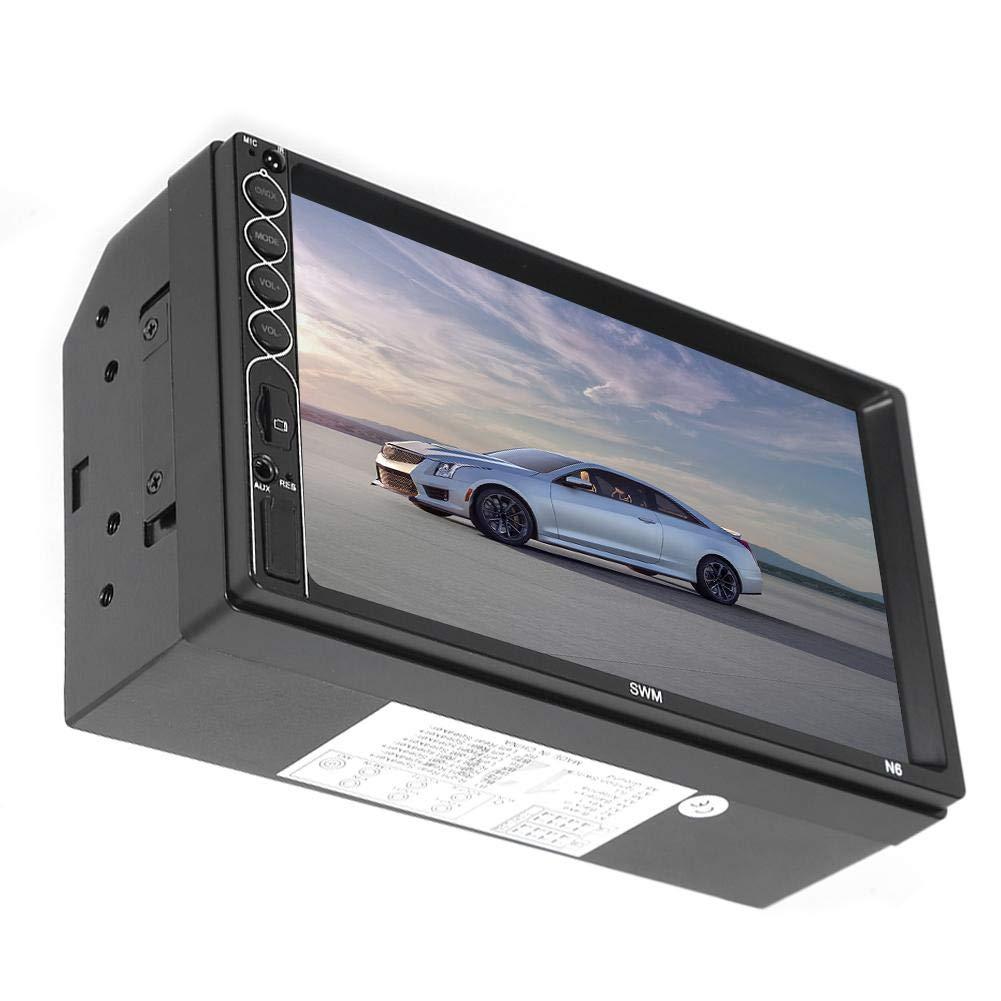 Ahomi SWM N6 2 DIN Reproductor est/éreo de Coche MP5 Receptor de Radio USB Bluetooth de 7 Pulgadas D