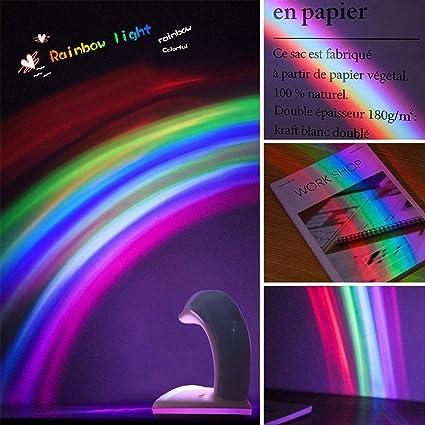 Pawaca Dolphin Rainbow Proyector Creativo Recargable Rainbow Luz ...
