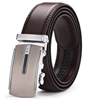 Cinturón para hombres, Cinturón automático para hebillas, Cinturón para negocios de moda, Cinturones formales ocasionales, Trabajo Cuero básico activo, Cinturón ajustable suave, Simple y duradero, Pan