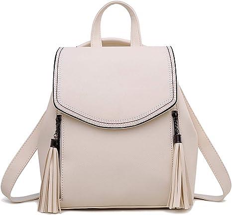 Shepretty Sac A Dos En Cuir Anti Vol Pour Femme Blanc Amazon Fr Bagages