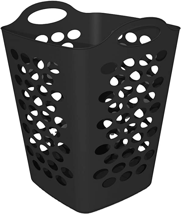 Mainstays - Single Piece, 1 Bushel Flex Hamper, Black