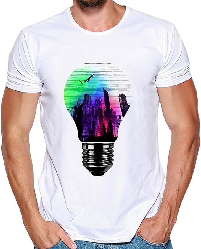 Yvelands Hombres guapos Moda Modal O-Cuello Camisetas de impresión Casual Camiseta de Manga Corta Blusa del Deporte del Caballero Tops Playa Verano, Liquidación: Amazon.es: Ropa y accesorios