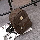 New Dual Inner Bag In Bag Handbag Tote Insert Purse Functional Storage Organizer ,High quality PU leather material ,Brown 01