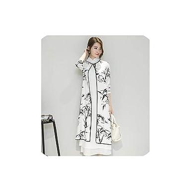 Amazon.com: Última Mujer Elegante Cheongsam Vestido Chino ...