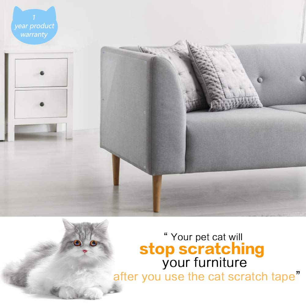Petrip Anti Cat Scratch Deterrent Tape 6 PCS Furniture Protectors from Cat Premium 100/% Transparent Clear Cat Training Tape,Couch Guards,Cover to Protect The Upholstery